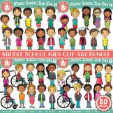 Middle School / Teen Kids Clip Art Bundle