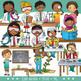Science Kids Clip Art – Middle School / Teen (STEM series)