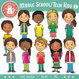 Middle School / Teen Kids Clip Art – Set 1