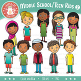 Middle School / Teen Kids Clip Art – Set 2