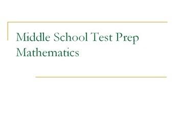 Middle School Test Prep #3
