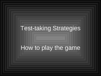 Middle School Test Taking Strategies