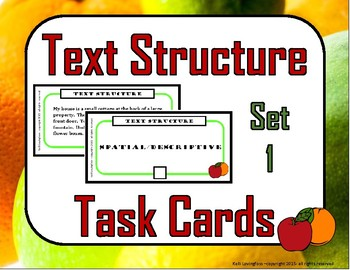 Text Structure Task Cards (2 Sets)