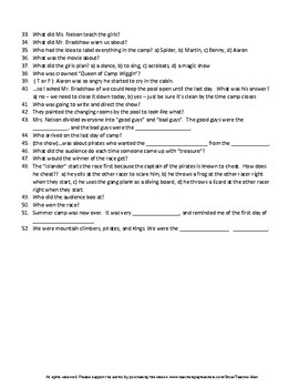 Middle School The Acorn People by Ron Jones Complete Guided Reading Worksheet
