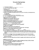 Middle School The Luck of Roaring Camp by Bret Harte Guided Reading Worksheet