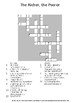 Middle School The Richer the Poorer by D West Guided Reading Worksheet w/Puzzles