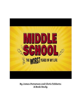 Middle School The Worst Years of My Life Book Study