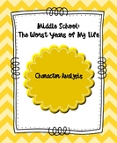 Middle School: The Worst Years of My Life Character Traits