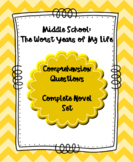 Middle School:The Worst Years of My Life Comprehension Que
