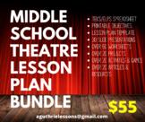 Middle School Theatre 1-3 Lesson Plan Bundle
