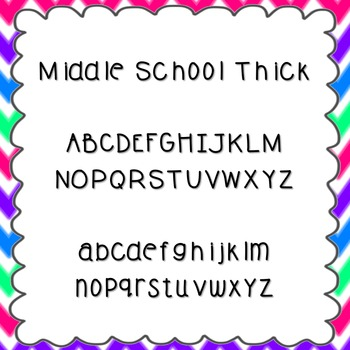 Middle School Thick Font {personal and commercial use; no license needed}