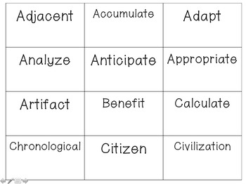 Middle School Tier 2 Vocabulary
