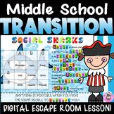 Middle School Transition Interactive Digital ESCAPE ROOM f