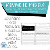 Transition to Middle School Activity
