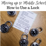 Middle School Transition: Using a Lock