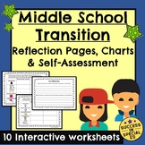 Back to School Middle School Transition Reflections Self Assessment Pages