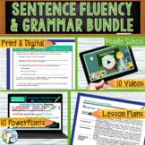 SENTENCE FLUENCY & GRAMMAR in Writing  BUNDLE!! - 10 LESSONS!!!! - Middle School