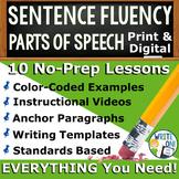 SENTENCE FLUENCY & GRAMMAR in Writing  BUNDLE!! - 10 LESSO