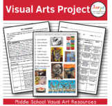 VISUAL ARTS : Middle School Visual Arts Assignment - Writing and Creative