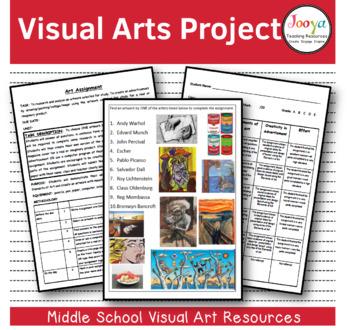 VISUAL ARTS : Middle School Visual Arts Assignment - Writi