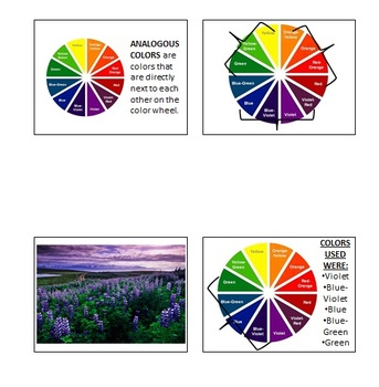 Visual Arts: Analogous Colors Presentation (PPT) (6th, 7th, 8th Grade)