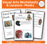 Visual Arts Worksheets and Lessons- Masks