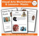 Masks Visual Arts Worksheets and Lessons