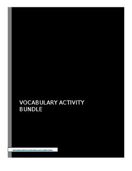 Middle School ELA Vocabulary Activity BUNDLE