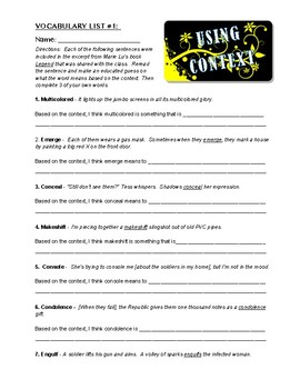 Vocabulary in Context: YA Read-Alouds, Word Lists, Activities,  and Assessments!