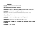 Middle School Vocabulary & Quiz