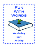 Middle School Vocabulary Word Sort Activity