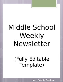 Middle School Weekly Newsletter