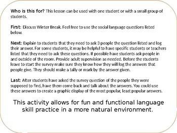 Middle School Winter Break Survey