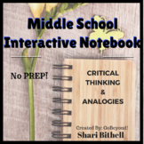 Middle School Word Relationships/Analogies Interactive Notebooks - No Prep!