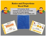 Middle School Word Wall- Ratios and Proportions