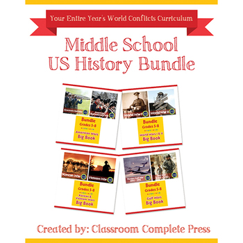 Middle School World Conflicts Bundle Gr. 5-8