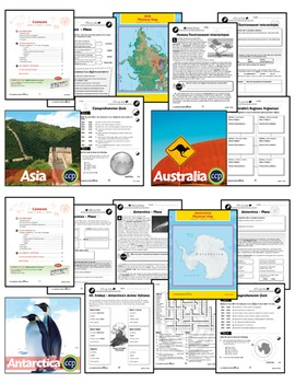 Middle School World Continents Bundle Gr. 5-8
