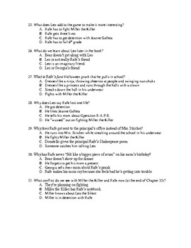 Middle School Worst Years of My Life Quiz Ch. 1-35