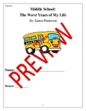 Middle School Worst Years of My Life Study Packet