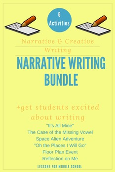 Middle School Writing Bundle- Narrative and Creative Writing
