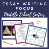 Essay FOCUS Practice:  Middle School Writing Centers