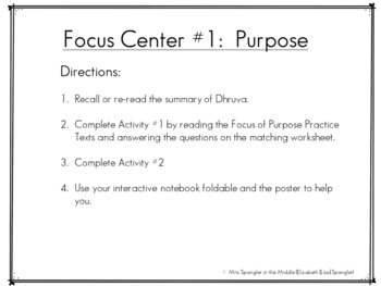Essay FOCUS Practice:  Middle School Writing Centers