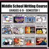 Middle School Writing Course (Grades 6-9) Semester 1 Bundl