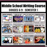 Middle School Writing Course (Grades 6-9) Semester 1 Bundle