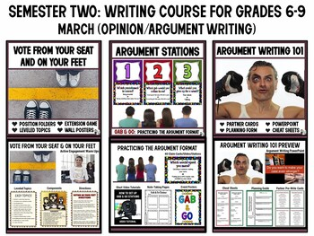 Middle School Writing Course (Grades 6-9) : Semester 2 - January-May
