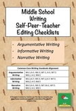 Writing Editing Checklists