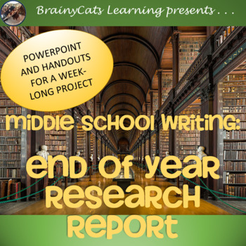 Middle School Writing:  End of the Year Research Report