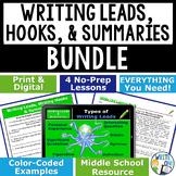 INTRODUCTIONS & CONCLUSIONS BUNDLE - 4 LESSONS!!!! - Middle School