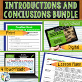 Writing Hooks Writing Leads Introductions Conclusions Bundle   Print and Digital
