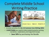 Middle School Writing Practice DISCOUNT BUNDLE-Perfect for
